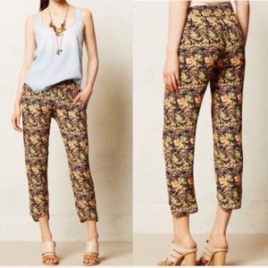 Anthropologie La Vi Abstract Printed Cropped Pant